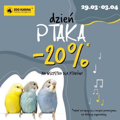 ZOO Karina -20% Dzień Ptaka