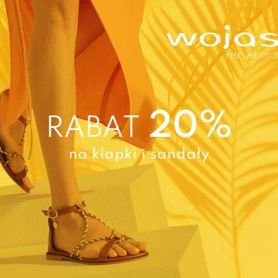 -20% rabatu na klapki i sandały w WOJAS